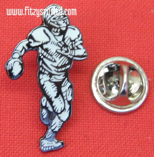 American Footballer Lapel Hat Tie Cap Pin Badge Football Player Gridiron Brooch